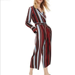 Topshop stripe jumpsuit